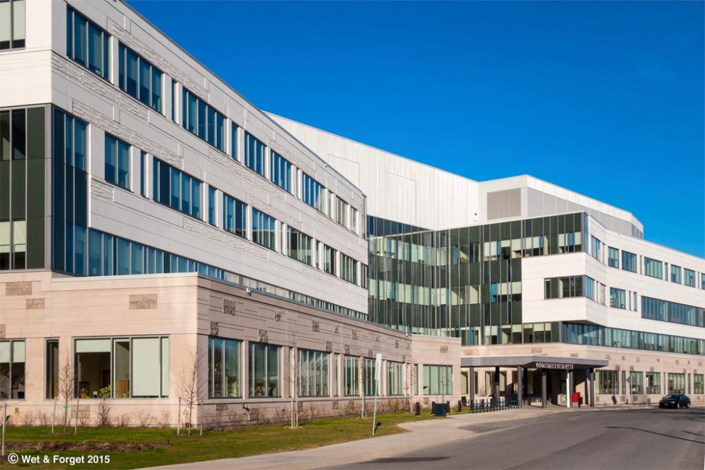 Wet and Forget removing Moss Lichen and Algae on Hospitals and Health Care Centres
