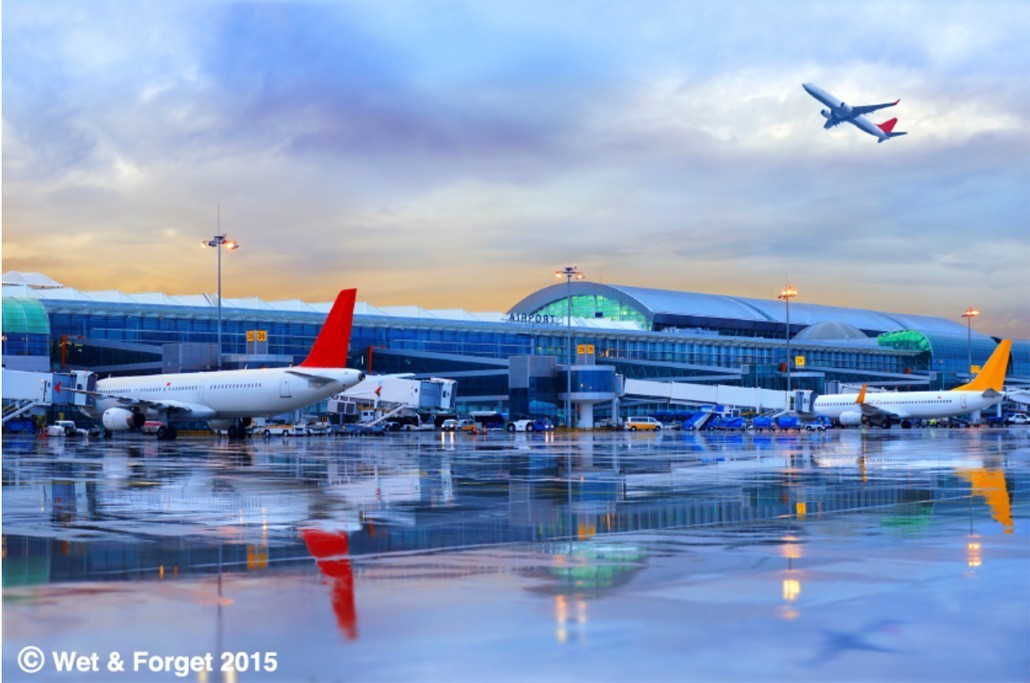 airports wet and forget